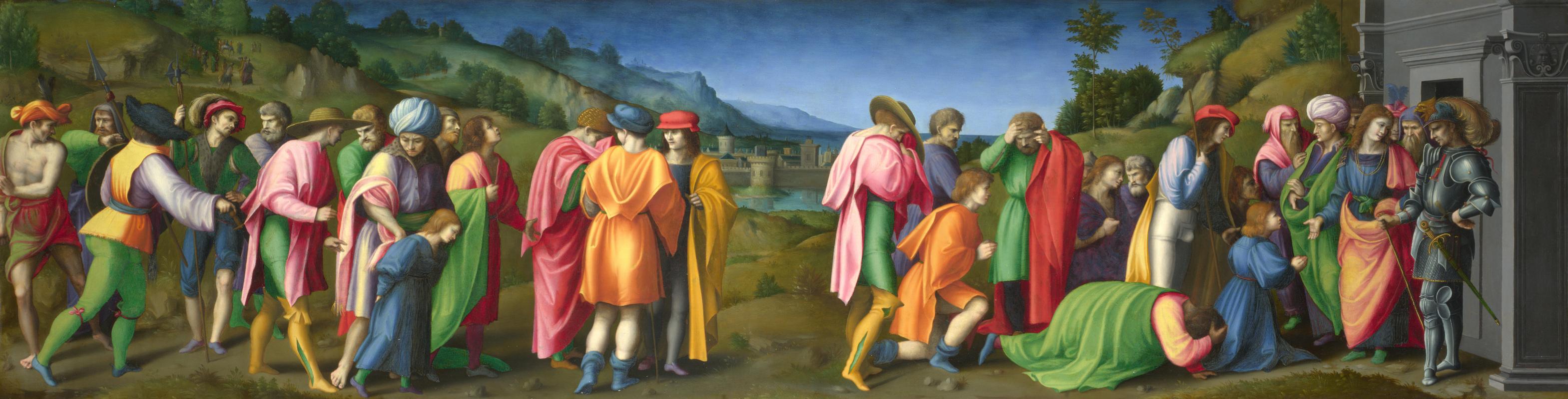 Бакчиакка. Иосифа приняли его братья