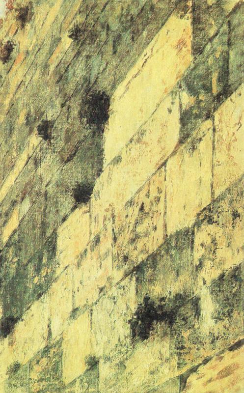 Василий Васильевич Верещагин. Часть стены Соломона в Иерусалиме. Этюд