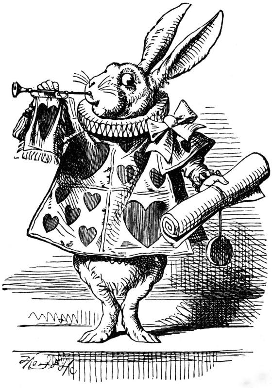 """Джон Тенниел. Белый кролик. Иллюстрация к сказке """"Алиса в стране чудес"""""""