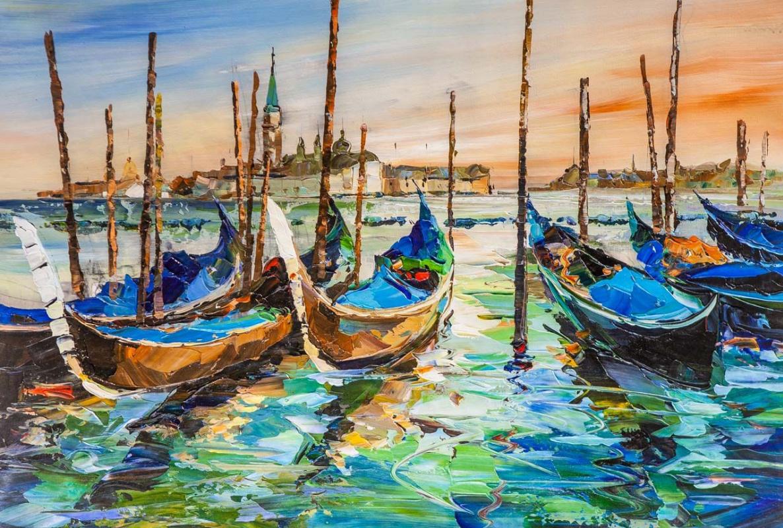 Jose Rodriguez. Gondolas at dawn
