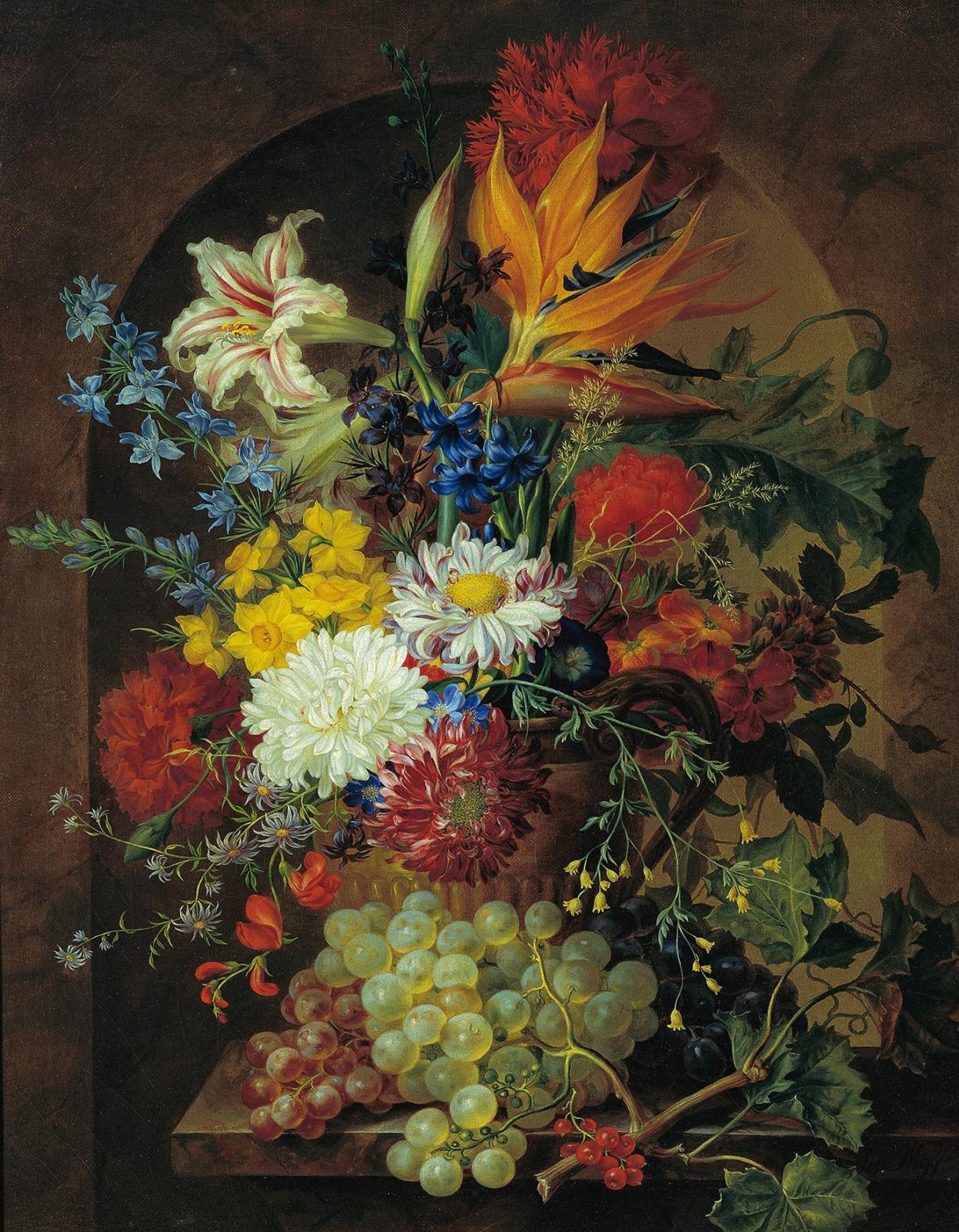 Йозеф Нигг. Цветочный натюрморт
