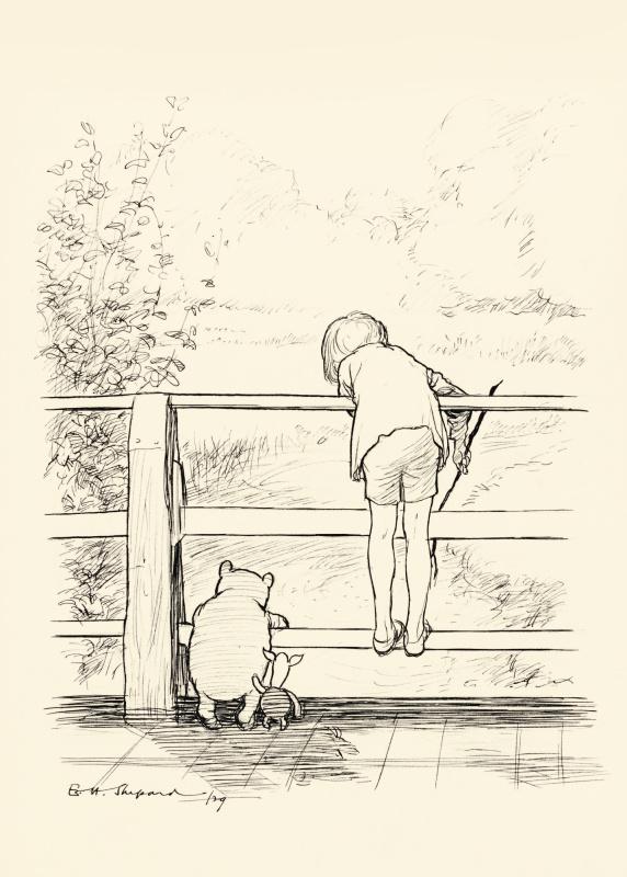 Эрнест Шепард. Игра в Пустяки. Иллюстрация к книге «Винни-Пух» А. А. Милна