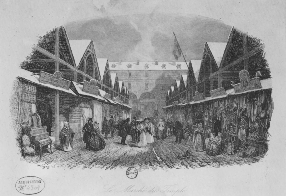 Шарль-Франсуа Добиньи. Рынок у храма