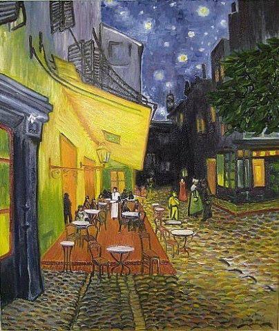 "Sophie Wasilewska. ""Ночная терраса кафе"" В. Ван Гог (копия)"