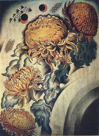 Mikhail Ivanovich the Beetle. Chrysanthemums
