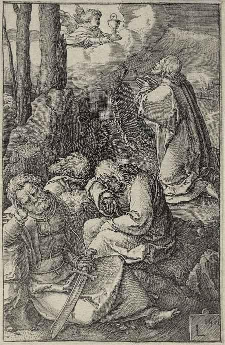 Лукас ван Лейден (Лука Лейденский). Христос в Гефсиманском саду