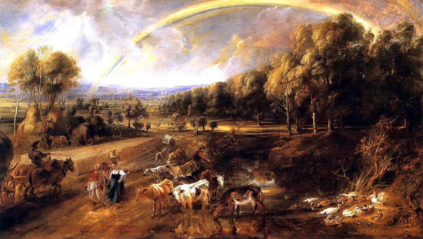 Peter Paul Rubens. Landscape with a rainbow