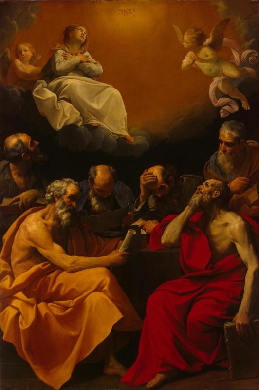 Гвидо Рени. Спор отцов церкви о христианском догмате непорочного зачатия