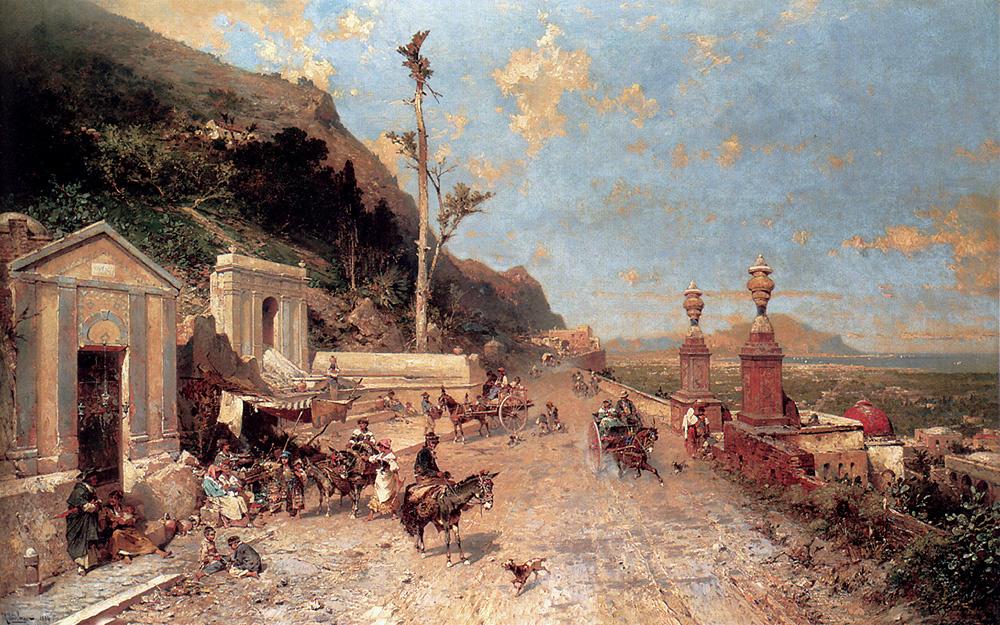 Franz Richard Unterberger. La Strada Monreale, Palermo