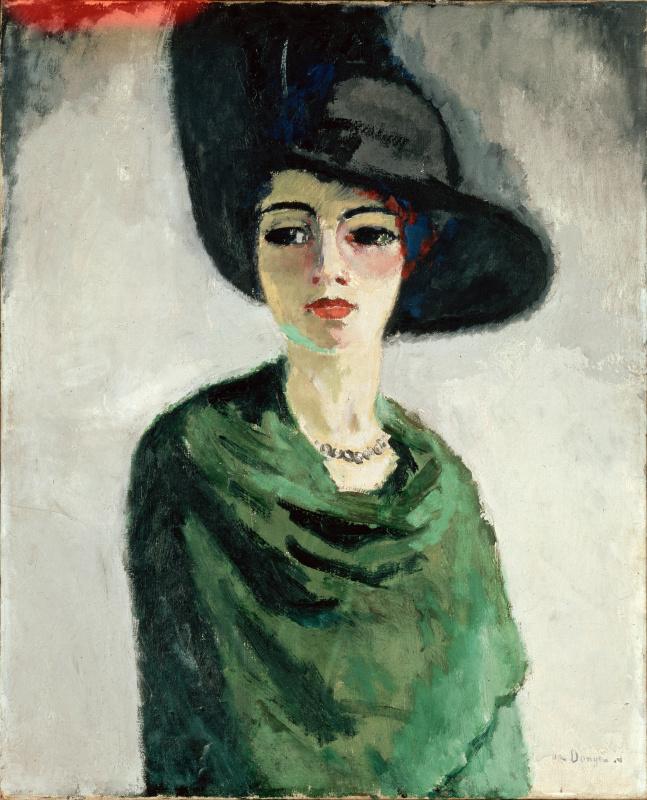 Kees Van Dongen. Woman in black hat