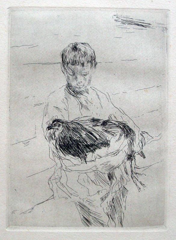 Valentin Aleksandrovich Serov. Boy with chicken