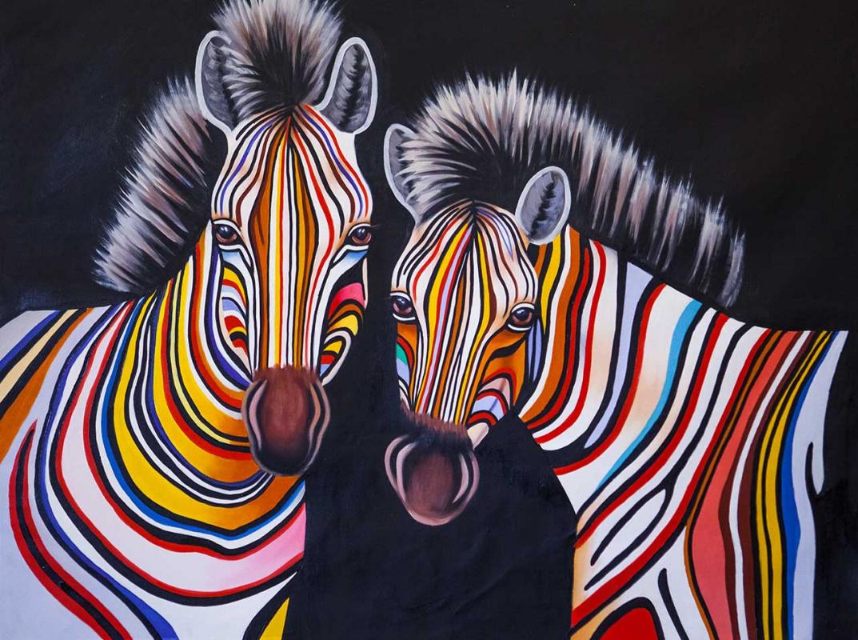(no name). Multicolored Zebra N6