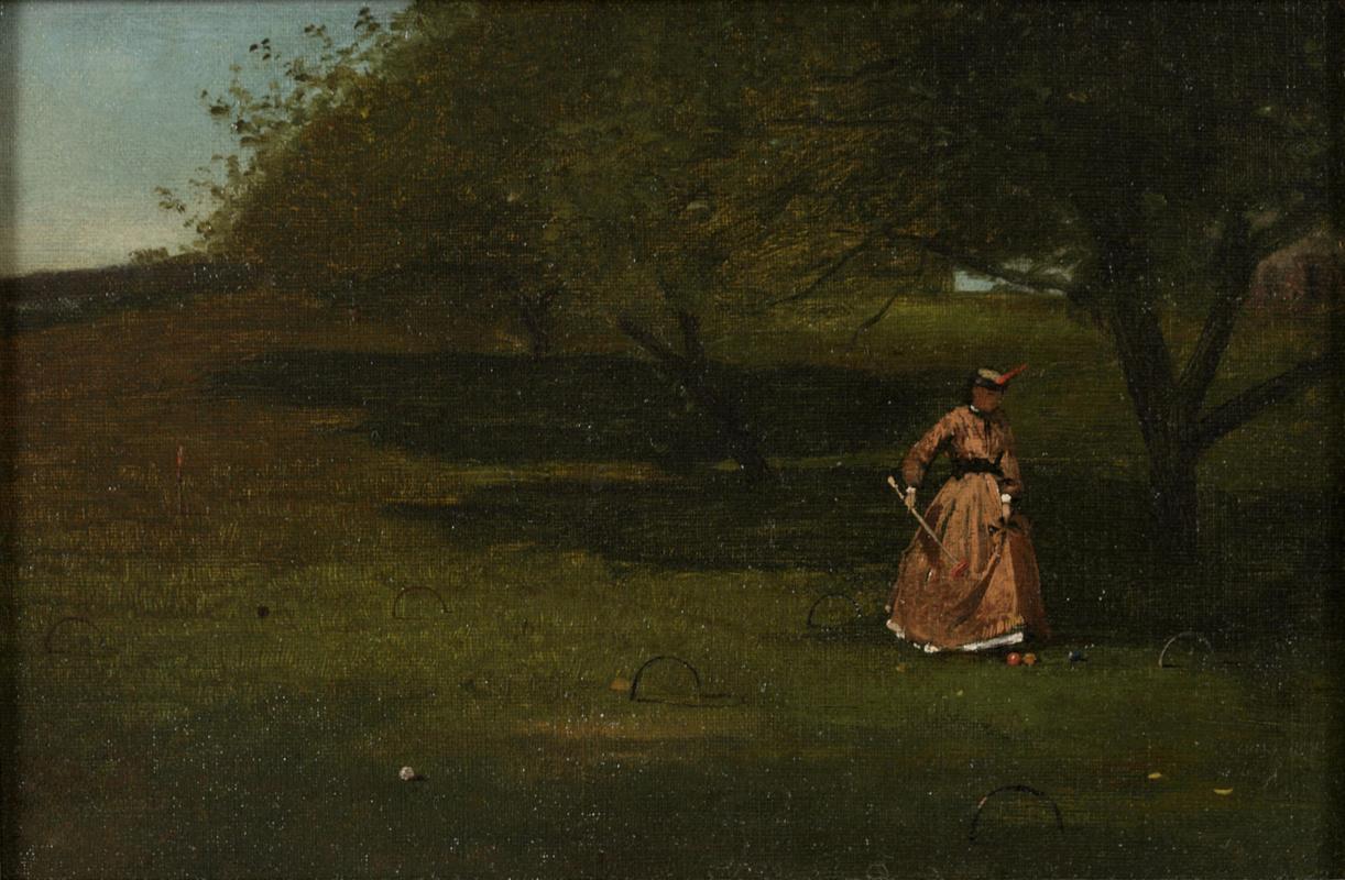 Winslow Homer. Playing croquet