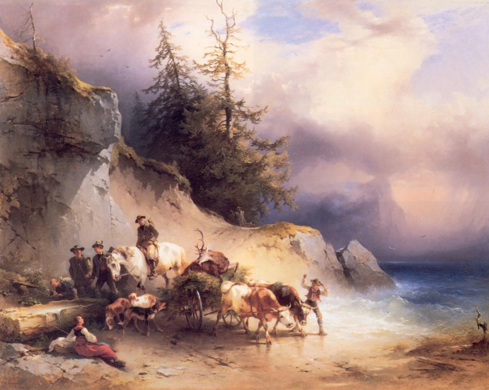 Friedrich Gauermann. The return from the hunt