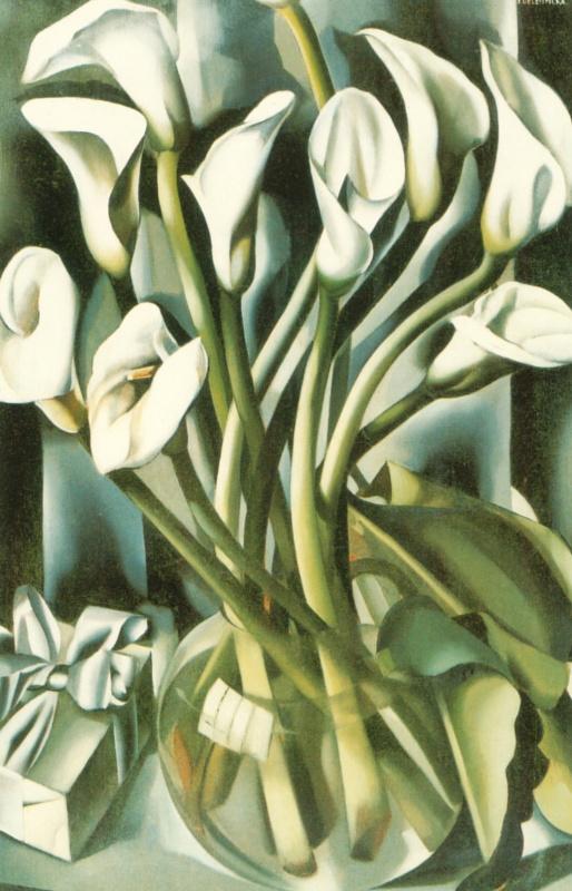 Tamara Lempicka. Calla lilies
