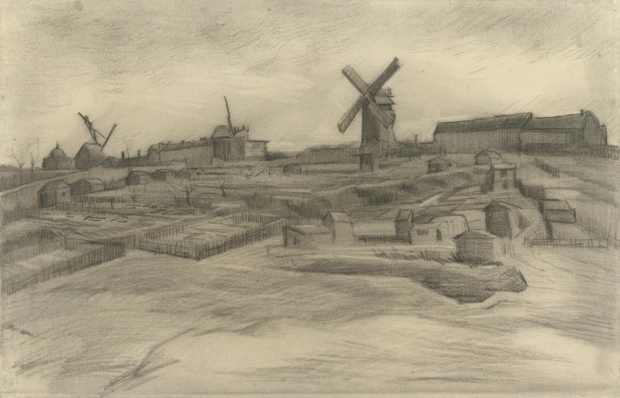Vincent van Gogh. The Hill of Montmartre