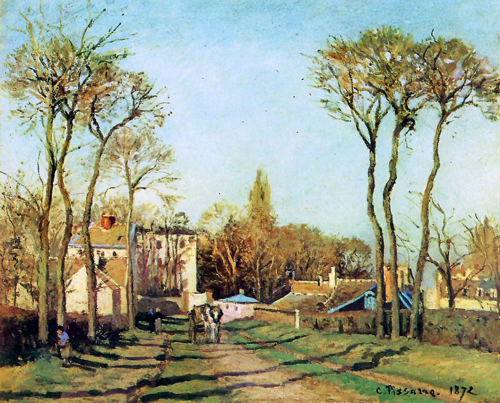 Camille Pissarro. The entrance to the village of Voisins