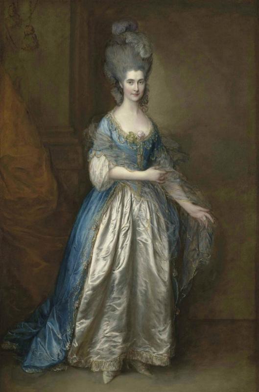 Томас Гейнсборо. Портрет мисс Рид, позднее миссис Уильям Вильбуа