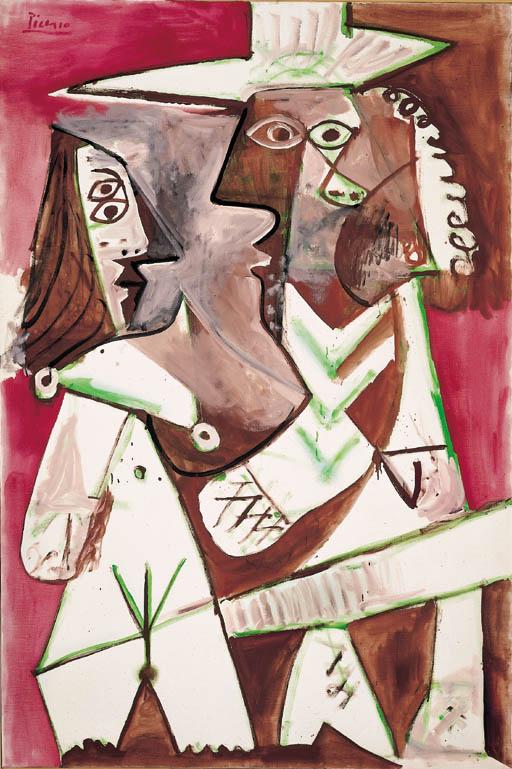 Пабло Пикассо. Обнаженная женщина и мушкетер