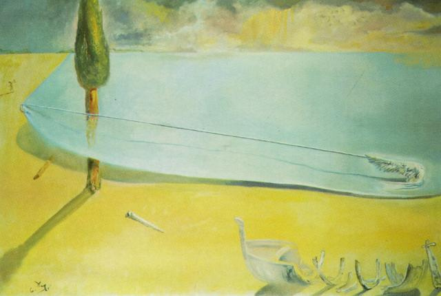 Salvador Dali. Leather beach