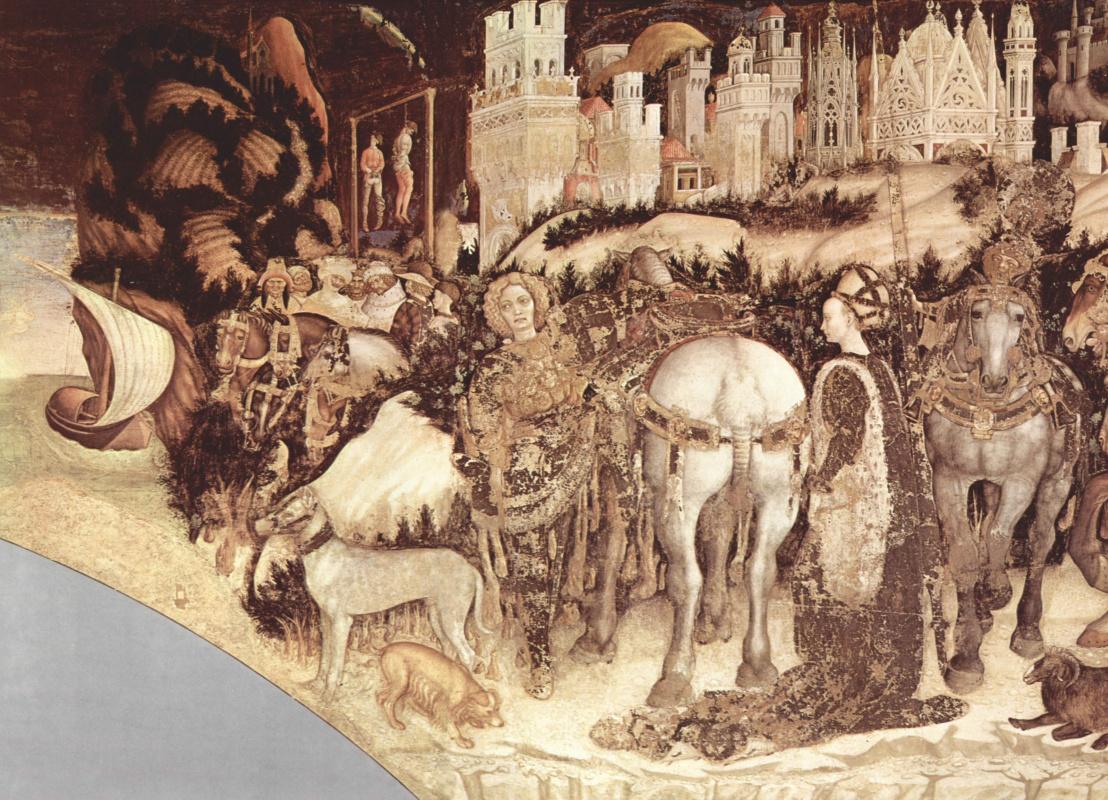 Antonio Pisanello. Frescoes from the Church of Sant' Anastasia in Verona. SV. George and the Princess