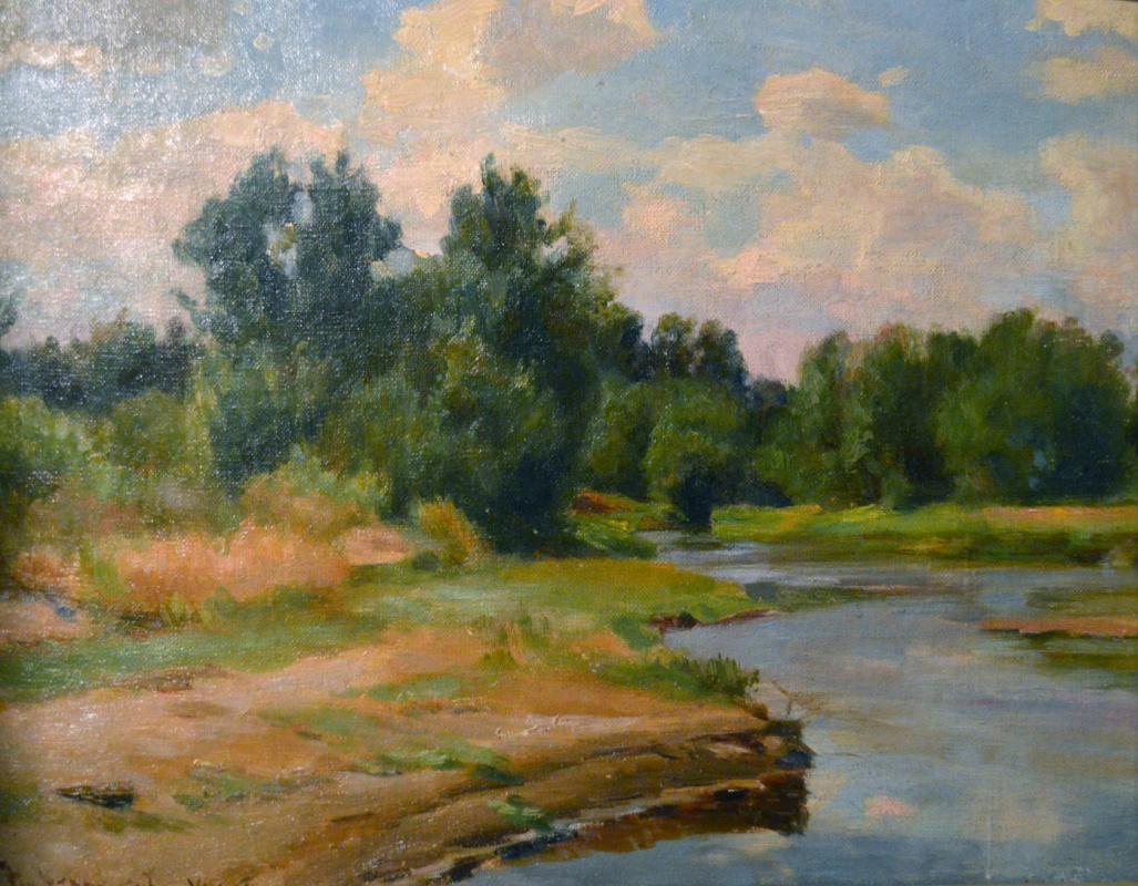 Николай Николаевич Хохряков. On the river bank