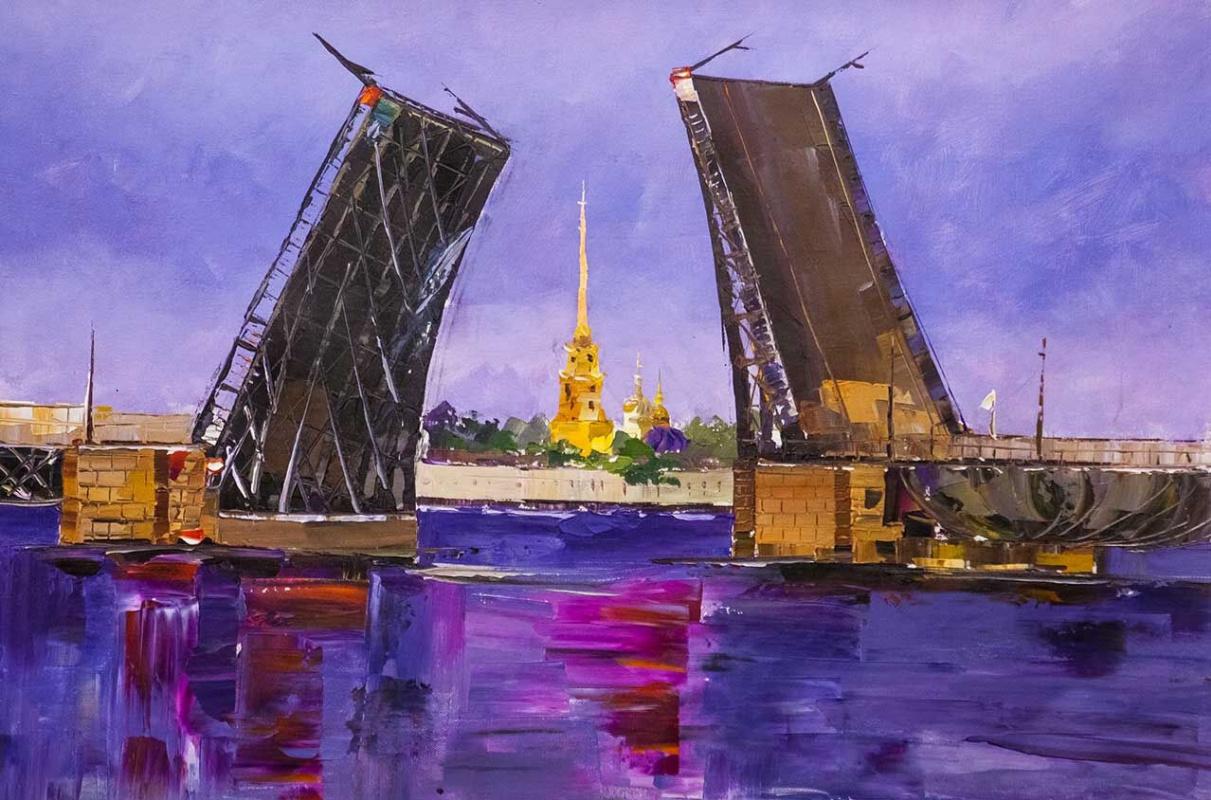 """Jose Rodriguez. """"Bridges of St. Petersburg N3"""""""