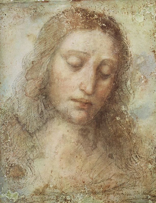Leonardo da Vinci. Head of Christ (study for the last supper)