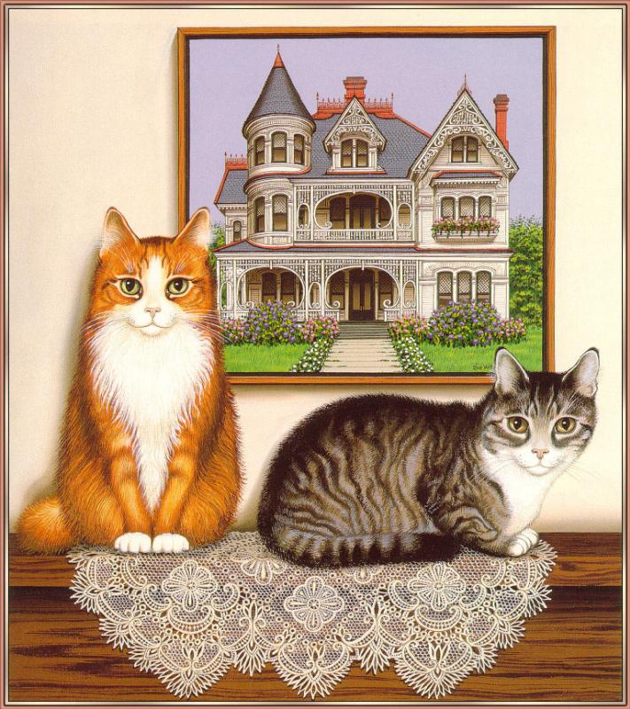 Сью Уолл. Две кошки