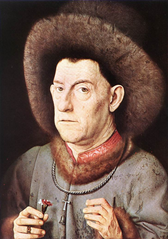 Jan van Eyck. Portrait of a man