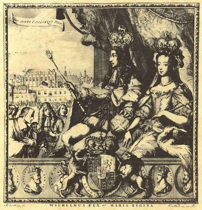 Ромейн де Хоге. Король Вильгельм III и королева Мария