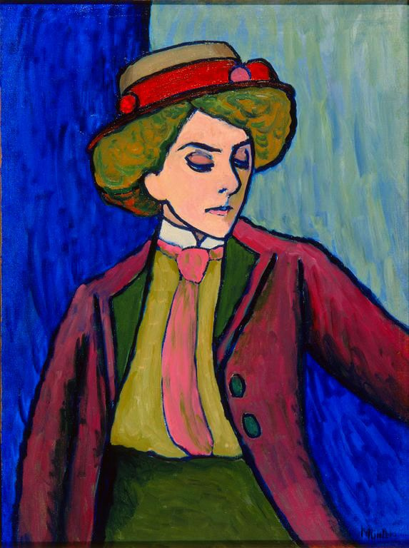 Gabriele Münter. Portrait of a young woman