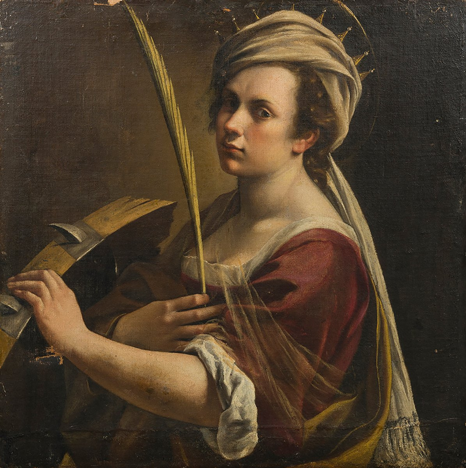 Artemisia Gentileschi. Self-portrait as Saint Catherine