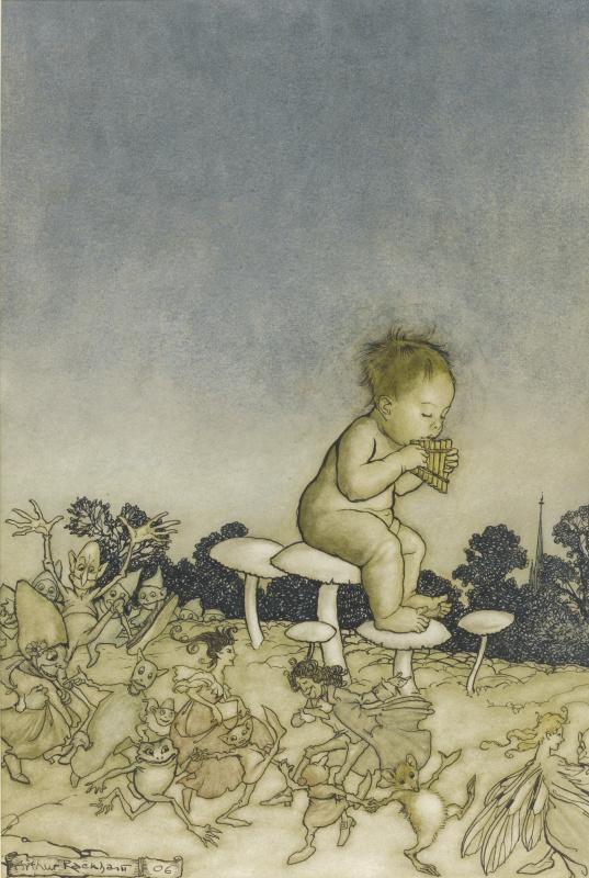 Артур Рэкхэм. Питер Пэн в Кенсингтонском саду