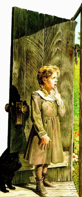 Чарльз Сантор. Девочка возле двери