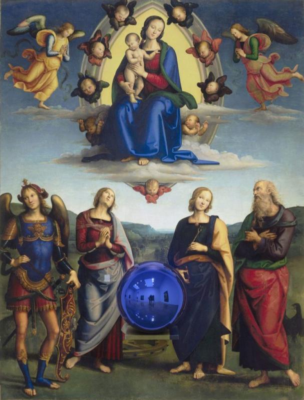 Джефф Кунс. Magic ball (Madonna with a baby and four saints)