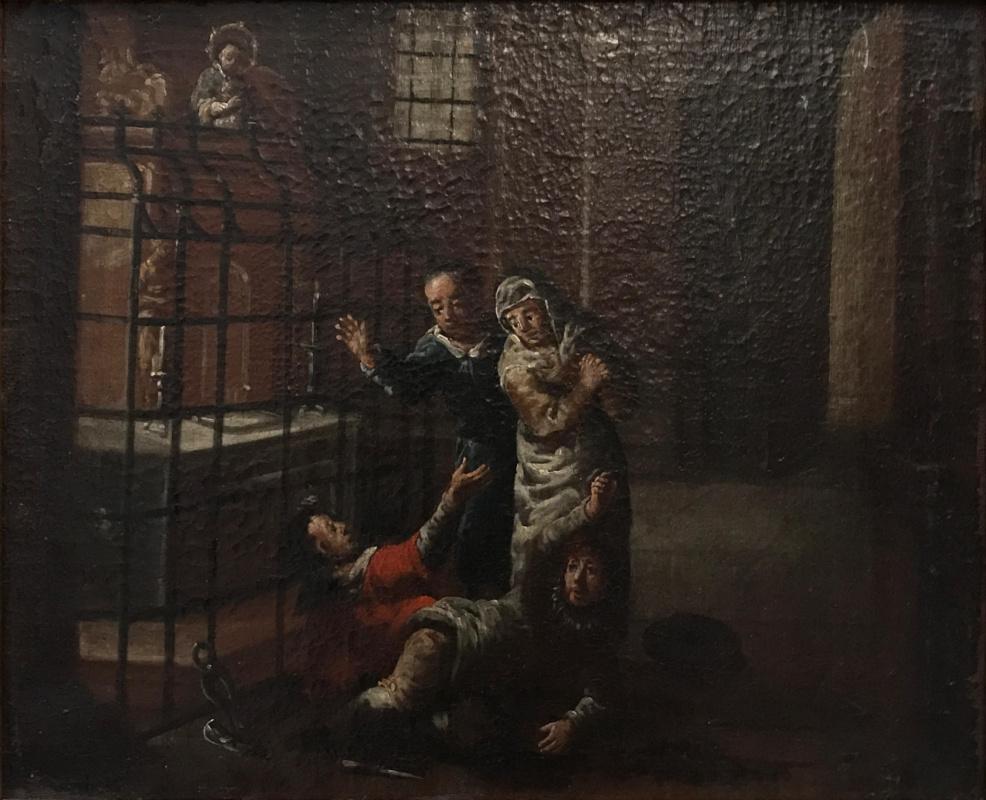 Jean Antoine Watteau. Thieves In The Church
