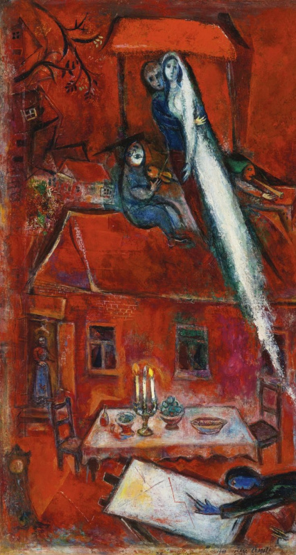 Marc Chagall. Twilight. Red house