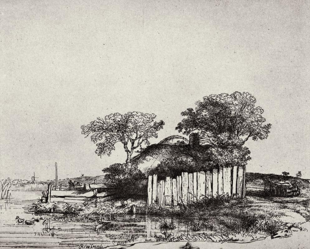 Рембрандт Харменс ван Рейн. Хижина за забором