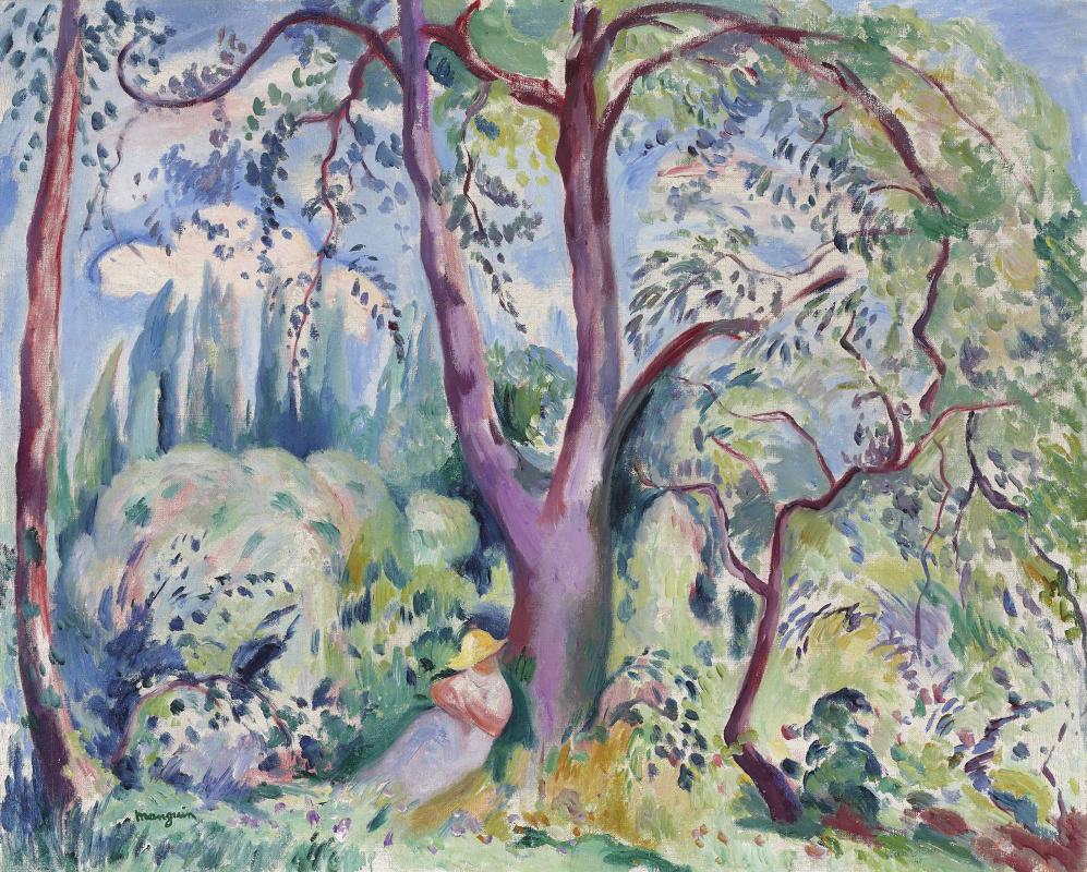 Henri Manguin. Landscape in Colombier. Sketch