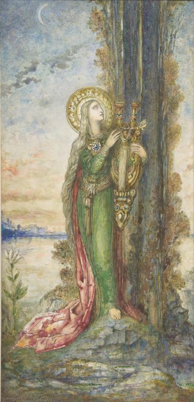 Gustave Moreau. Saint Cecilia