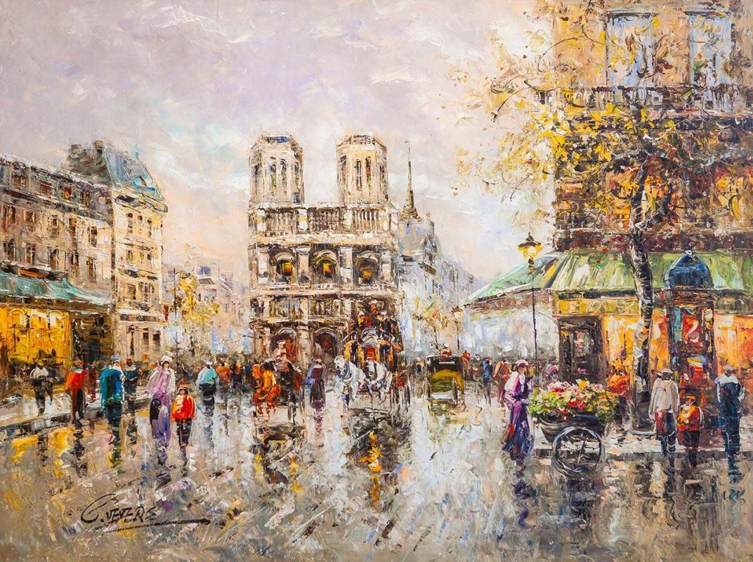 (no name). Place Saint Michel Notre Dame (copy by Christina Weavers)