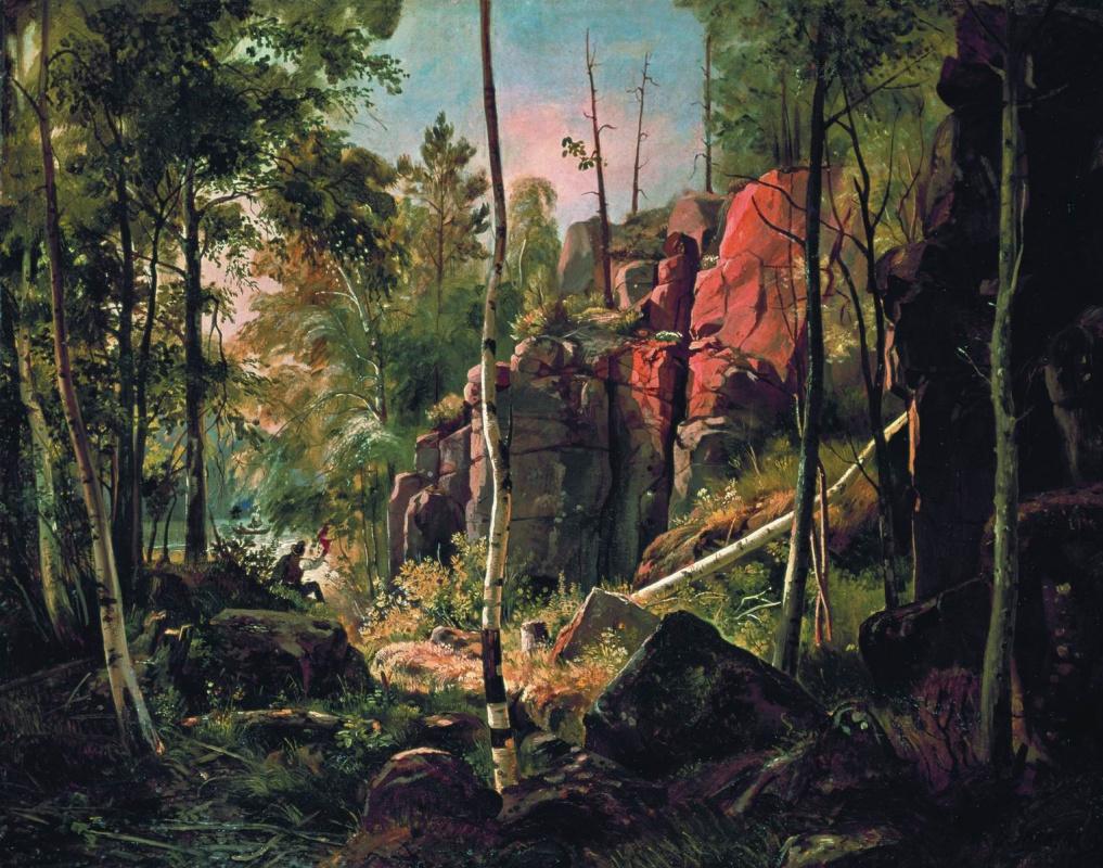 Ivan Shishkin. View on the island Valaam (Place Cucco)
