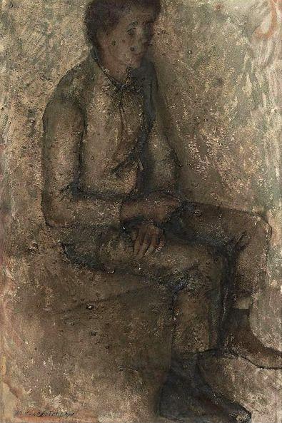 Павел Федорович Челищев. Портрет сидящего молодого человека