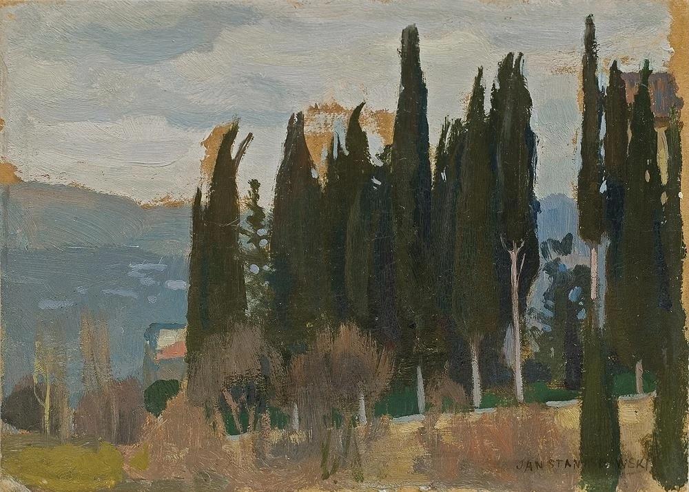 Jan Stanislavsky. Cypresses