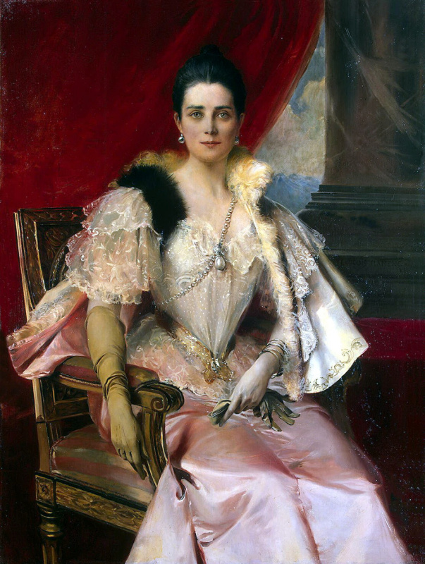 Francois Flameng. Portrait of Princess Yusupova