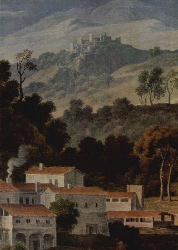 Монастырь св. Франциска в горах под Римом, фрагмент