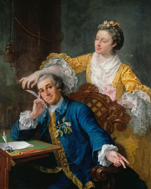 William Hogarth. Portrait of the actor David Garrick with his wife