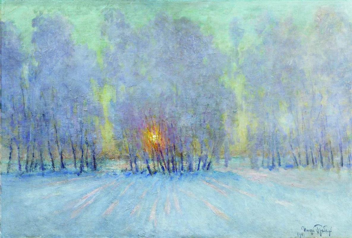 Igor Grabar. Frost. Sunrise