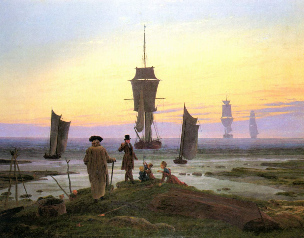 Caspar David Friedrich. View of the sea coast in Vic